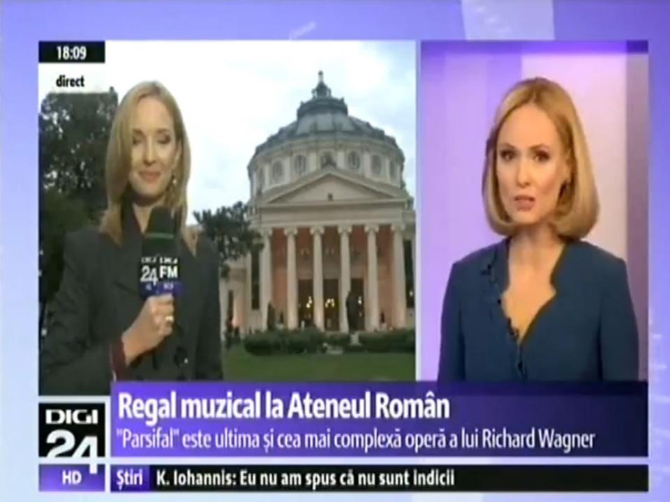 Parsifal la Ateneu - apariții media