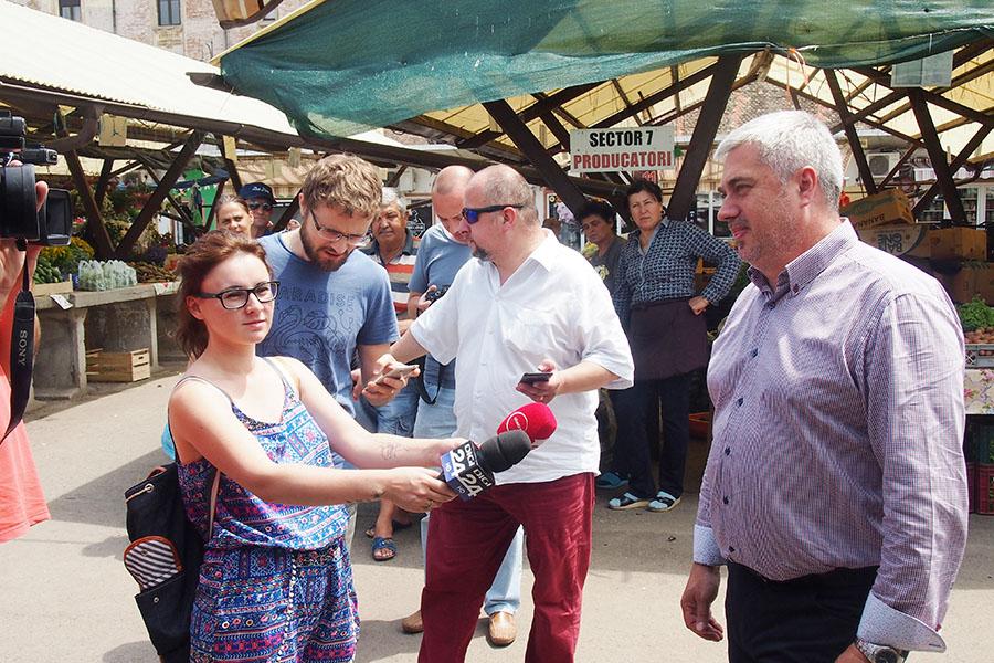 Lansarea plății cu cardul în Piața Cibin, din Sibiu