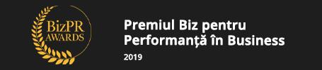 Câștigătoarea premiului Biz pentru Performanță în Business în 2019